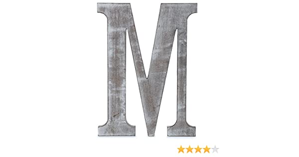 Charcoal Grey Wall Letter Gray 24 L The Lucky Clover Trading LBL24CG-H H Wood Block