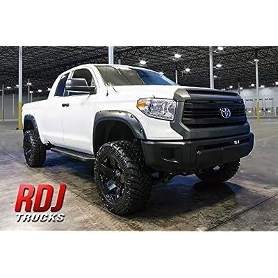 RDJ Trucks PRO-Offroad Bolt-On Style Fender Flares - Fits Toyota Tundra 2014-2020 - Set of 4 (Smooth w/Rhino Skin): Automotive