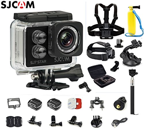 Original SJCAM SJ7 Star WiFi 4K 30FPS 2' Touch Screen Remote Action Helmet Sports DV Camera Waterproof Ambarella A12S75 Chipset+6-in-1 Accessories