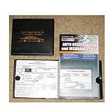 #2: Auto Car Truck Registration Insurance Document Holder Wallet Black Case Id Card