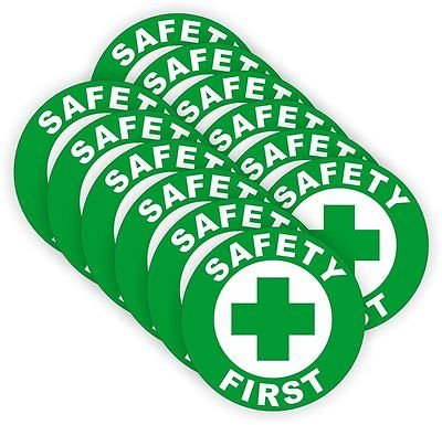 Safety First Hard Hat Sticker / Helmet Decal Label Lunch Tool Box