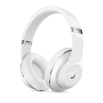 Beats Studio Bluetooth inalámbrico auriculares de diadema en color blanco brillante