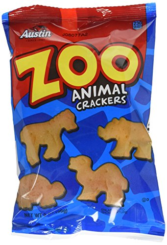 Crackers Austin Zoo - Austin Zoo Animal Crackers, 2-Ounce Packages (Pack of 36)
