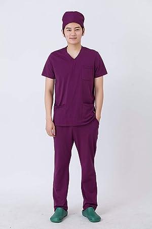 OPPP Ropa médica Bata quirúrgica de Traje Dividido de médico Lavado de Ropa Traje de anestesia