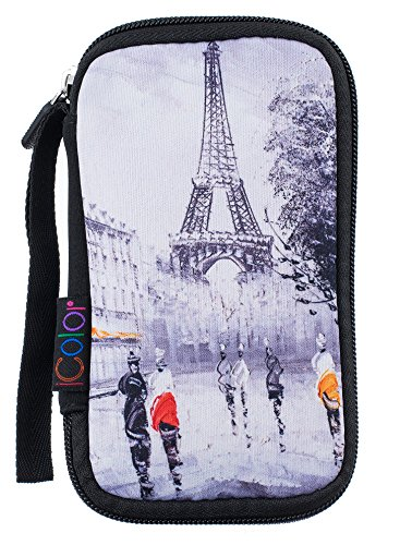 iColor Eiffel Universal Portable USB Flash Drive Case Bag/Electronic Accessories Organizer Holder/Hard Drive Case Bag USB-01