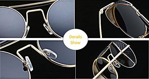 de Double lunettes UV400 polarized Or Hellomiko femmes Sunglasses protectrices Or Beam Non hommes Vintage et soleil pour Retro rXwOqOBY