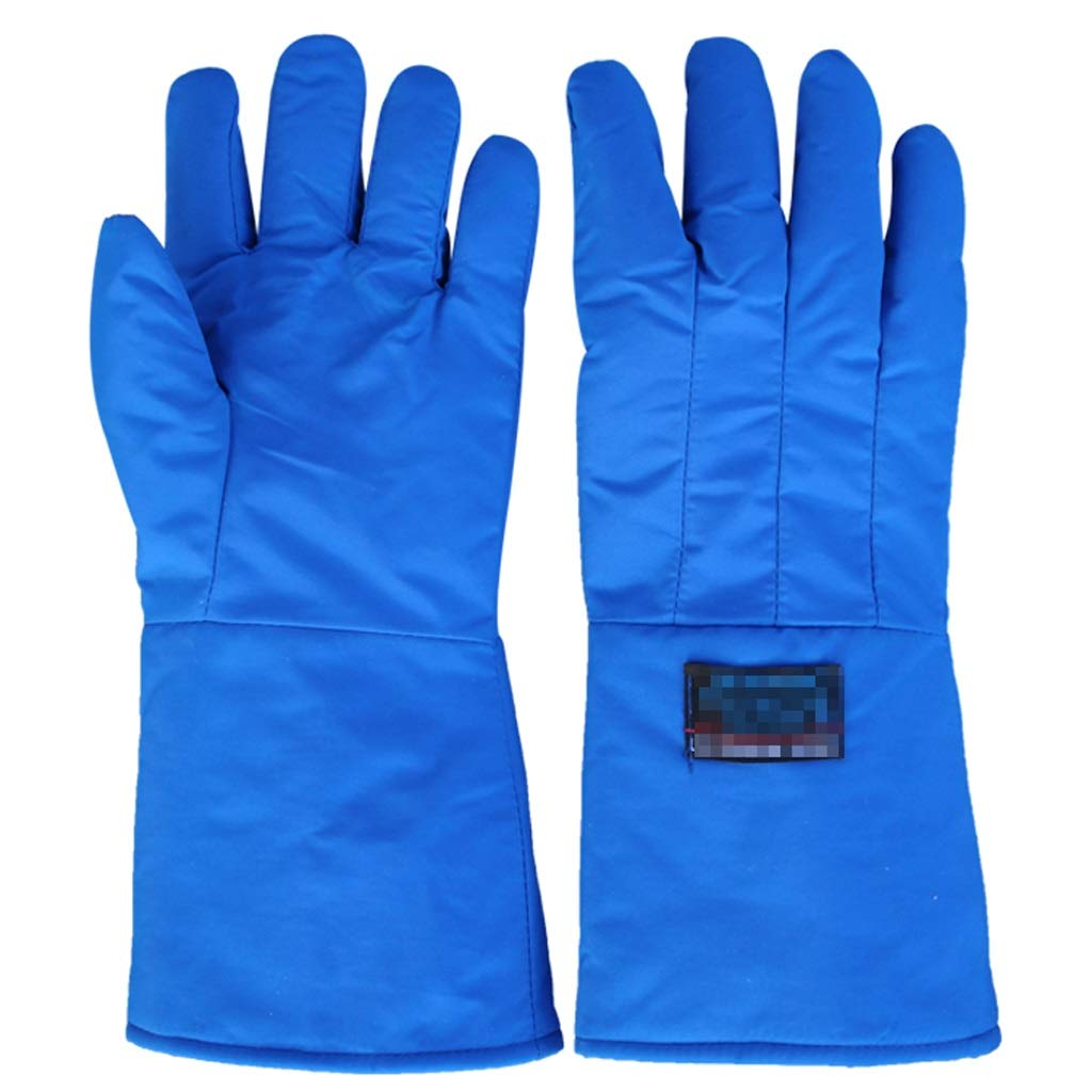 LZRZBH Cryogenic Gloves Waterproof Protective Work Gloves Liquid Nitrogen Frozen Gloves Cold Storage Cryo Work Glove (Size : L 60cm)