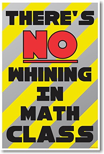 There's No Whining in Math Class - NEW Funny Classroom Poster