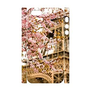 Flower Paris Custom 3D Cover Case for Iphone 5,5S,diy phone case ygtg619117 by lolosakes