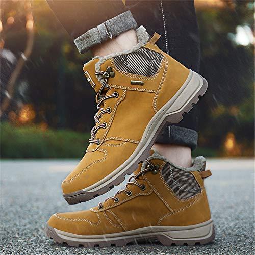 Stivaletti Invernali 36 Sportive Scarpe Uomo Stivali Caloroso Boots Giallo Eu Caviglia Neve Da 1 Escursionismo Allineato Pelliccia Piatto 46 v6At4qx