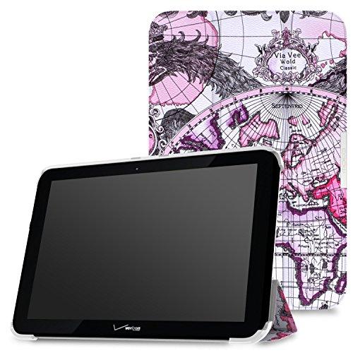 MoKo Verizon Ellipsis 10 Case - Ultra Slim Lightweight Smart-shell Stand Cover Case for Verizon Ellipsis 10 2015 Tablet, Map E