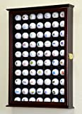 70 display case - 70 Golf Ball Display Case Cabinet Wall Rack Holder w/98% UV Protection Lockable -Cherry