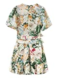 337f03d22b85 Goodnight Macaroon Francesca  Floral Belted Frilly Dress - Medium (M) -  White