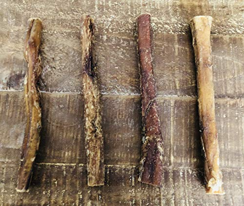 "Homemade All Natural Beef Straight Bully Stix, 6"" each, Pack of 4"