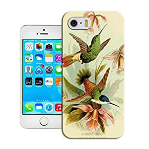 LarryToliver Customizable Bird art painting Birthday Gift Cheap unique iphone 5/5s Hard Case Cover Protector Gift Idea