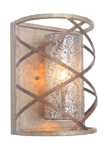 Woodbridge Lighting 12641VIN-M10MIR Braid 1-Light Wall Sconce, Vintage Graphite
