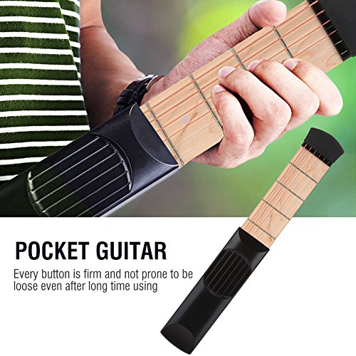 Pocket Guitar 6 Fret, Portable Guitar Finger Exerciser Practice Tool ...