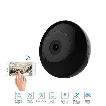 LNLJ Mini cámara espía inalámbrica Oculta 2 megapíxeles WiFi 720P visión Nocturna móvil detectar cámara de