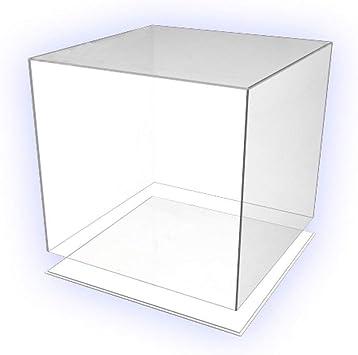 Hoku Boite De Presentation En Plastique Pour Bois Boite En Verre Acrylique 30 Cm X 30 Cm X 30 Cm Avec Fond Couvercle Cubique Acrylique Plexiglas 5 Pages Transparentes Amazon Fr Cuisine Maison
