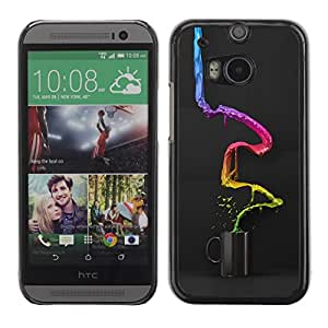 Slim Protector Shell Hard Case Cover for HTC One M8 Abstract Color Coffee / STRONG