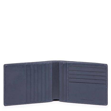 comprare on line eea22 e1ee7 Piquadro Cube Porta carte di credito, 13 cm, Blu: Amazon.it ...