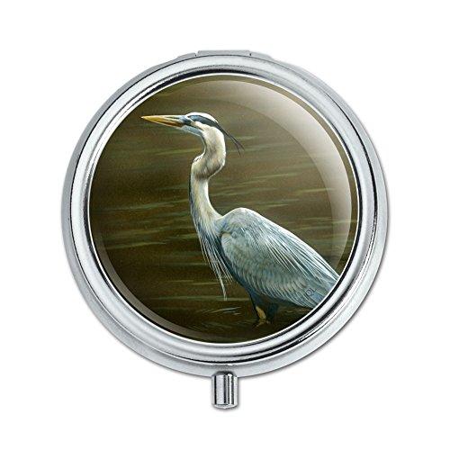 Heron Case Blue - Great Blue Heron Pill Case Trinket Gift Box