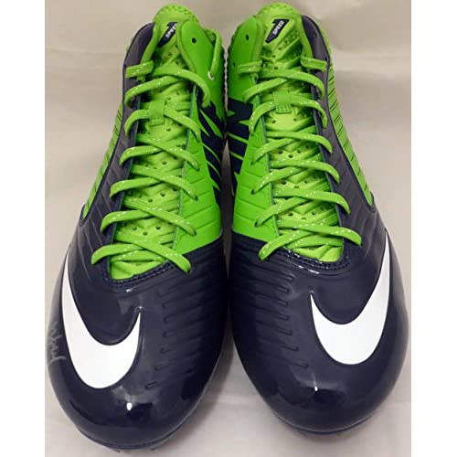e8fc356f196 Marshawn Lynch Signed Autograph Nike Cleats Shoes Seattle Seahawks ML Holo  Stock #131210 - Certified