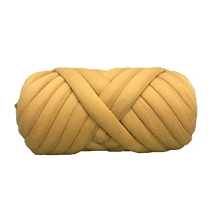 Amazon com: Chunky Cotton Tube Yarn, Dark Grey Cotton Tube