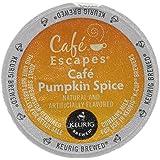 Cafe Escapes Cafe Pumpkin Spice Keurig K-Cups Coffee, 16 Count