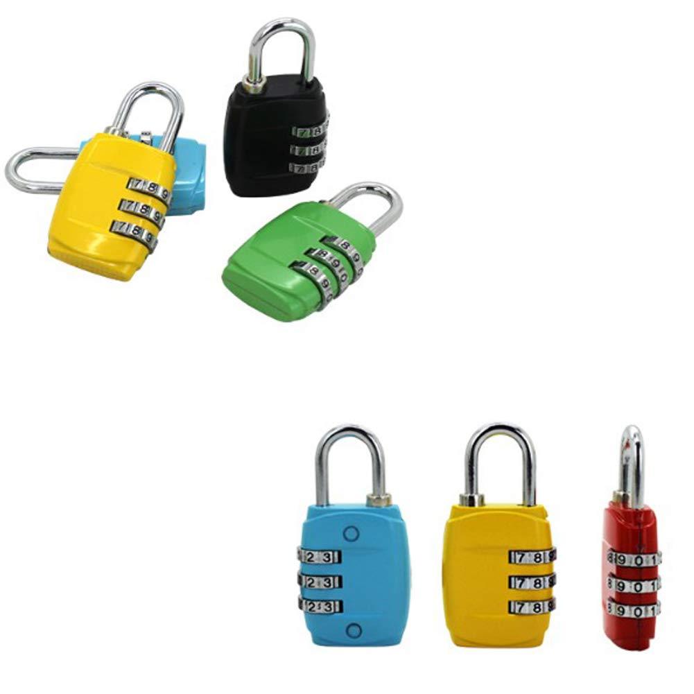 Alivier Candado de combinaci/ón Estuche de Traje Gimnasio candado taquillas candados de Equipaje de 3 d/ígitos para Bolsa de Viaje