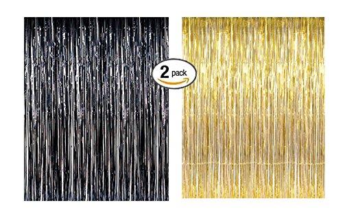 Foil Fringe Door & Window Curtain Party Decoration 3' X 8'