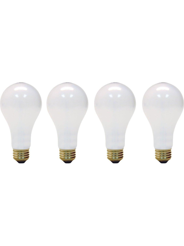 4 Pack Soft White 50//150 3-Way 50//100//150-Watt Incandescent A21 Medium Base Light Bulb