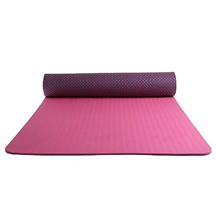 Esterilla de yoga ecológica y sin sabor, 2 tonos, 6 mm ...
