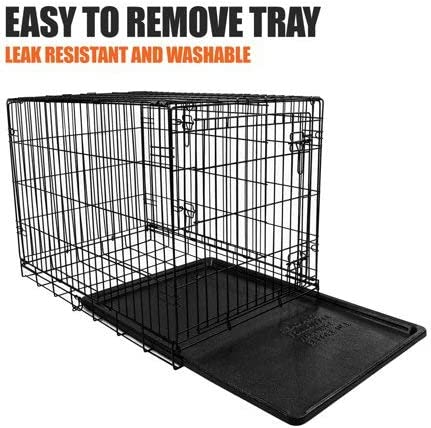 VIBRANT LIFE Dog Folding Crate, 24 Small Single Door Kennel w Divider 24.00 x 17.50 x 20.00 Inches