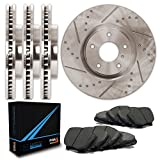 05 acura tl type s - Front + Rear Premium Slotted & Drilled Rotors and Carbon Pads Brake Kit TA007833 | Fits: 2007 07 2008 08 Acura TL Type-S Models