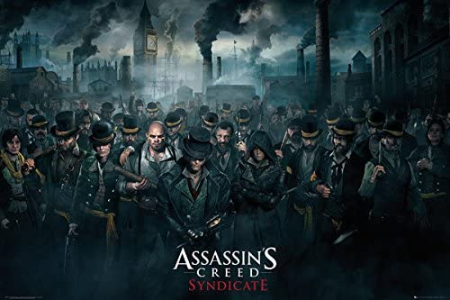 Amazon Com Assassin S Creed Syndicate Gaming Poster Print Crowd Size 36 Inches X 24 Inches Poster Poster Strip Set Posters Prints