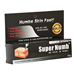 30g SUPER NUMB Anesthetic Skin Numbing C...