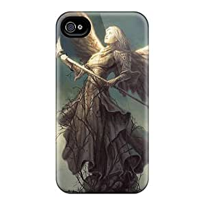 PXf15028oCyM Angel Statue High Quality For Case Ipod Touch 4 Cover Cases Skin