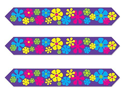 Beistle - Camino de mesa con diseño de flores, 3 piezas, Multicolor, 3 piezas, 1
