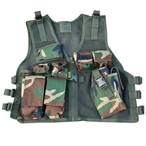 - Kids Cross Draw Vest, One Size Fits Ages 6 - 13 yrs, Camo Cross draw, Chest Rig