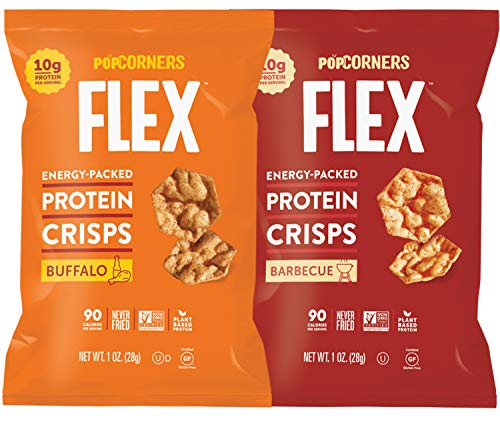 - Protein Chips Variety Mix Sampler, Popped Protein Crisps, Hot Buffalo and Sweet & Smokey BBQ Flavored, Non-GMO and Certified Gluten Free 1.0 oz Bags by Variety Fun (10 Count)