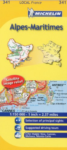 Michelin Map France: Alpes-Maritimes MH341 (Maps/Local (Michelin)) (English and French Edition)