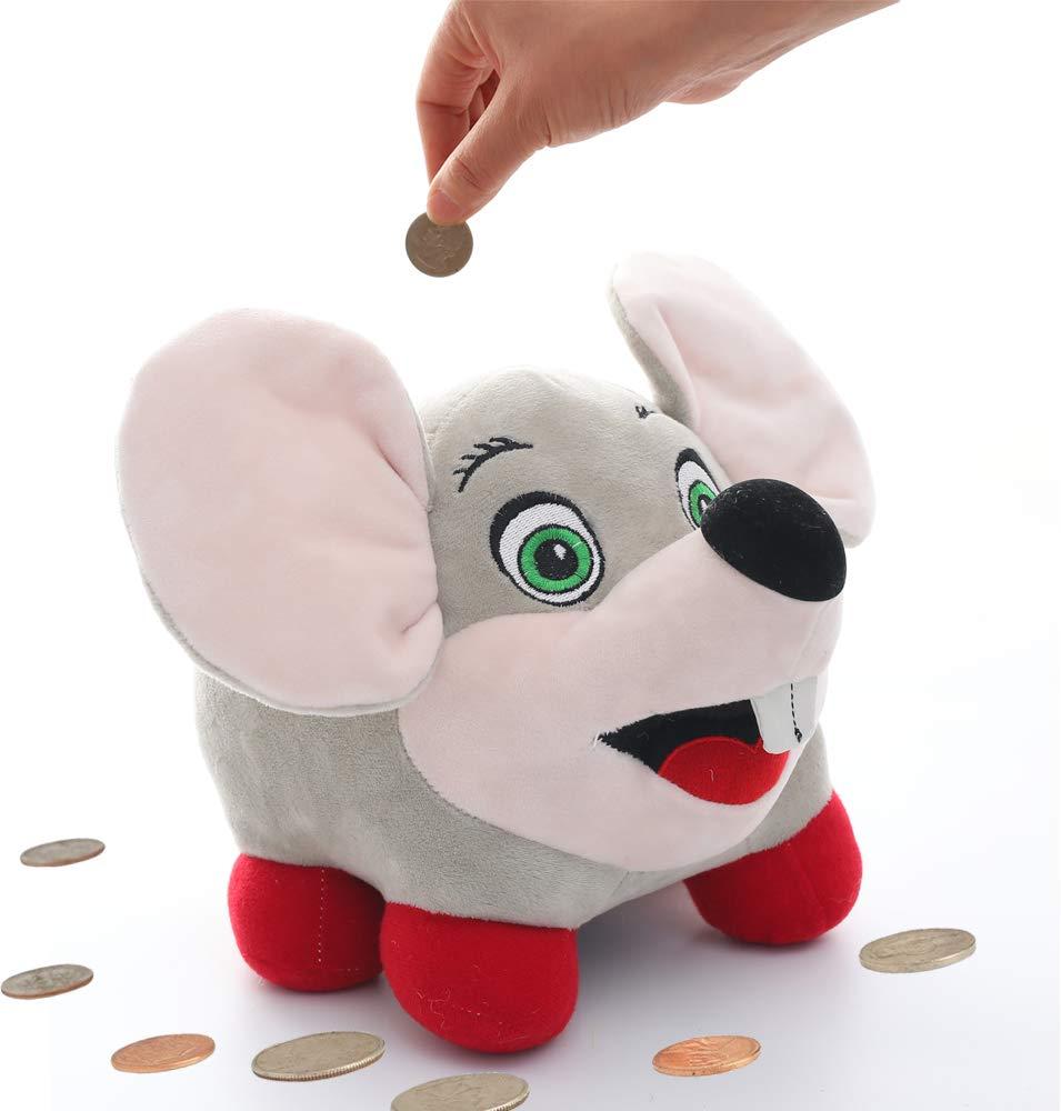 Toy Amigo おしゃべりマウス ぬいぐるみ ブタの貯金箱 ライトアップチーク 貯金/コイン/貯金箱 子供用 大型ぬいぐるみ プラスチックタンク付き 子供部屋   B07D6KZBS8