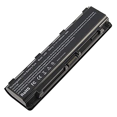 Fancy Buying Rechargeble repalcement Battery for Toshiba Satellite S70DT C55-A5302 C55-A5308 C55-A5309 C55D-A5150 C55T-A5314 Battery PA5109U-1BRS PA5024U-1BRS 5200mAh 6 cell by Fancy Buying
