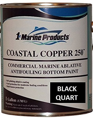 Coastal Copper 250 Ablative Antifouling Bottom Paint BLACK QUART