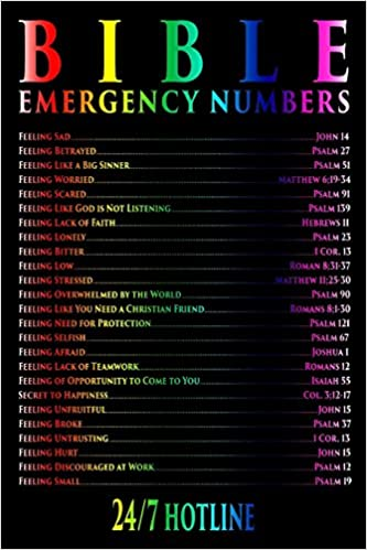 Bible Emergency Numbers 24/7 Hotline: Funny Christian Motivational