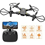 FALCORC Foldable Mini RC Drone 2.4Ghz 6-Axis Gyro WiFi FPV 720P Camera 2.4G Drone Selfie Quadcopter Remote Control Helicopter Drone Training