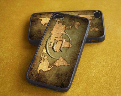 Black Iphone 4/4s Case --- Vintage World Map -- Iphone 4, Iphone case, Iphone, iphone 4s, Case, iPhone Case