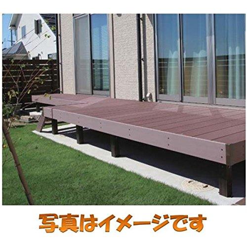 タカショー エバーエコウッド2 デッキセット (床板195mm幅仕様) 1.5間×6尺 『ウッドデッキ 人工木』 N/DB/WG ウォームグレー B00DNZ04QE 本体カラー:ウォームグレー