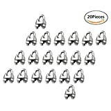 Wire Rope Clamp 1/4/6mm 316 Stainless Steel Cable Clip U Bolt Saddle 20-PACK